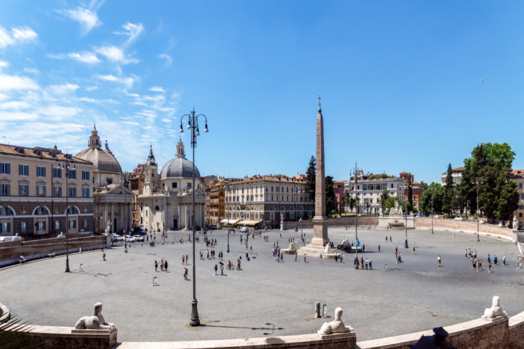 La Piazza del Popolo, Rome