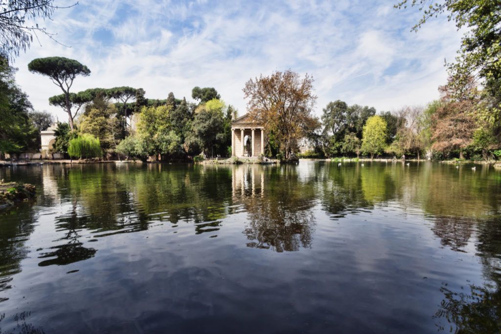 Les jardins et le temple d'Esculape, Rome