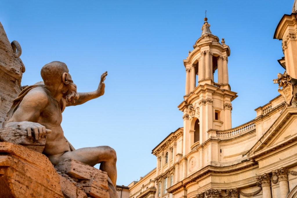 Rome et sa fontaine des Quatre-fleuves