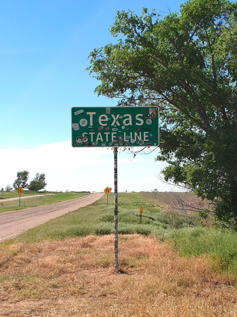 Road 66 Texas State Line