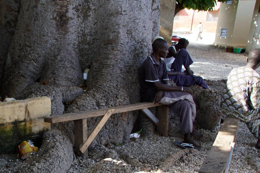 Scène de vie à Fadiouth, Sénégal