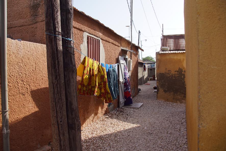 Sur l'île de Fadiouth, Sénégal