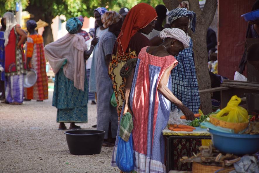 Marché sur l'île de Fadiouth, Sénégal