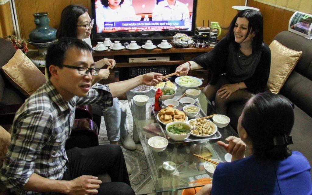 Repas chez l'habitant à Hanoï