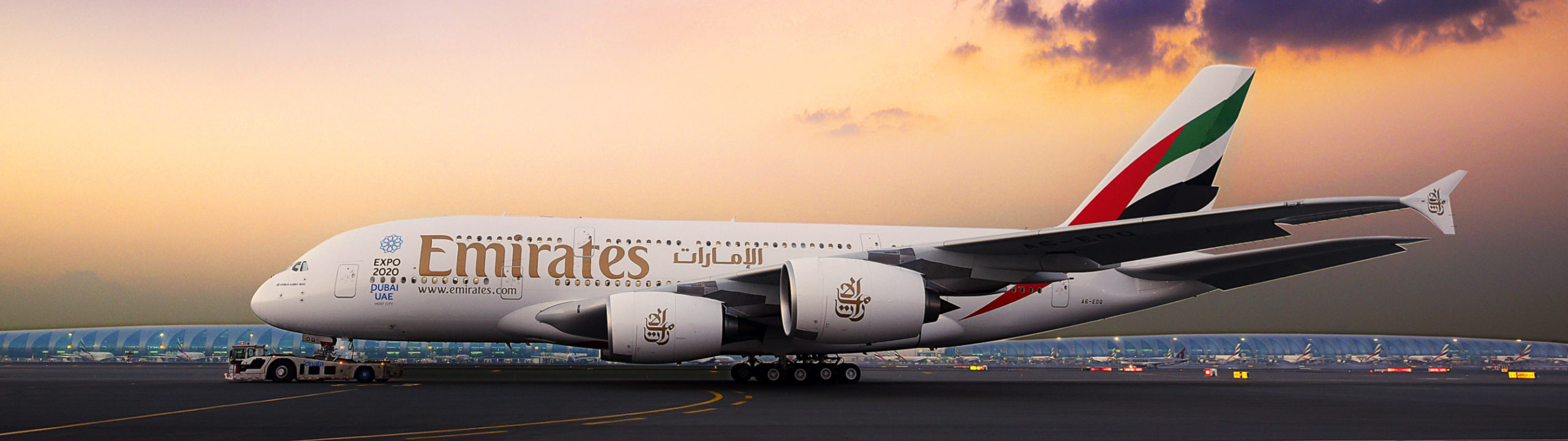 Emirates A380 Aéroport